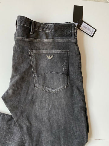 NWT $245 Emporio Armani Mens Slim Fit Grey Jeans Pants Size 38/32 US 6Z1J06
