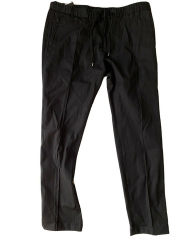 NWT $345 Emporio Armani Mens Black Casual Pants Size 38 US (56 Euro) 6Z1PP0
