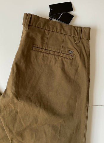 New $245 Emporio Armani Men's Brown Casual Pants 40 US (56 Eu)