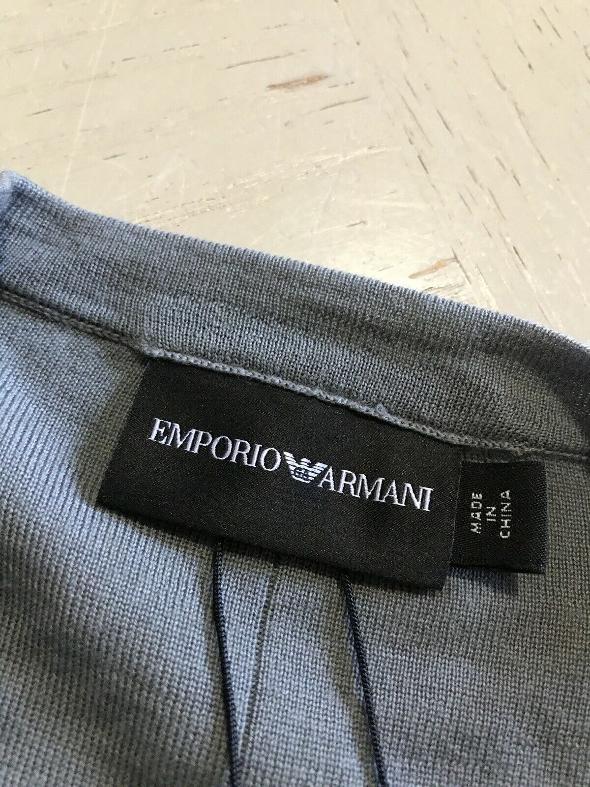 NWT $395 Emporio Armani Men's Crewneck Dark Gray Sweater 2XL