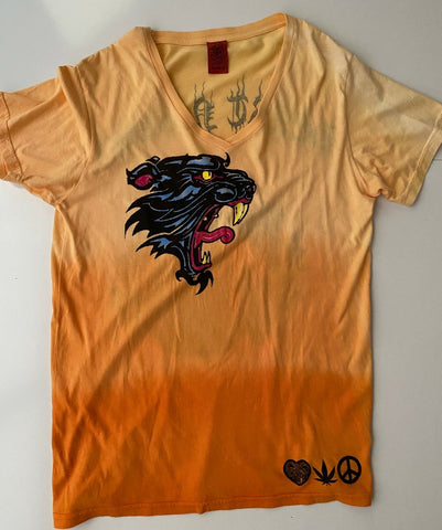 Amal Guessous A&G Heart & Soul Men's Shirt Orange V-Neck T-Shirt  Large