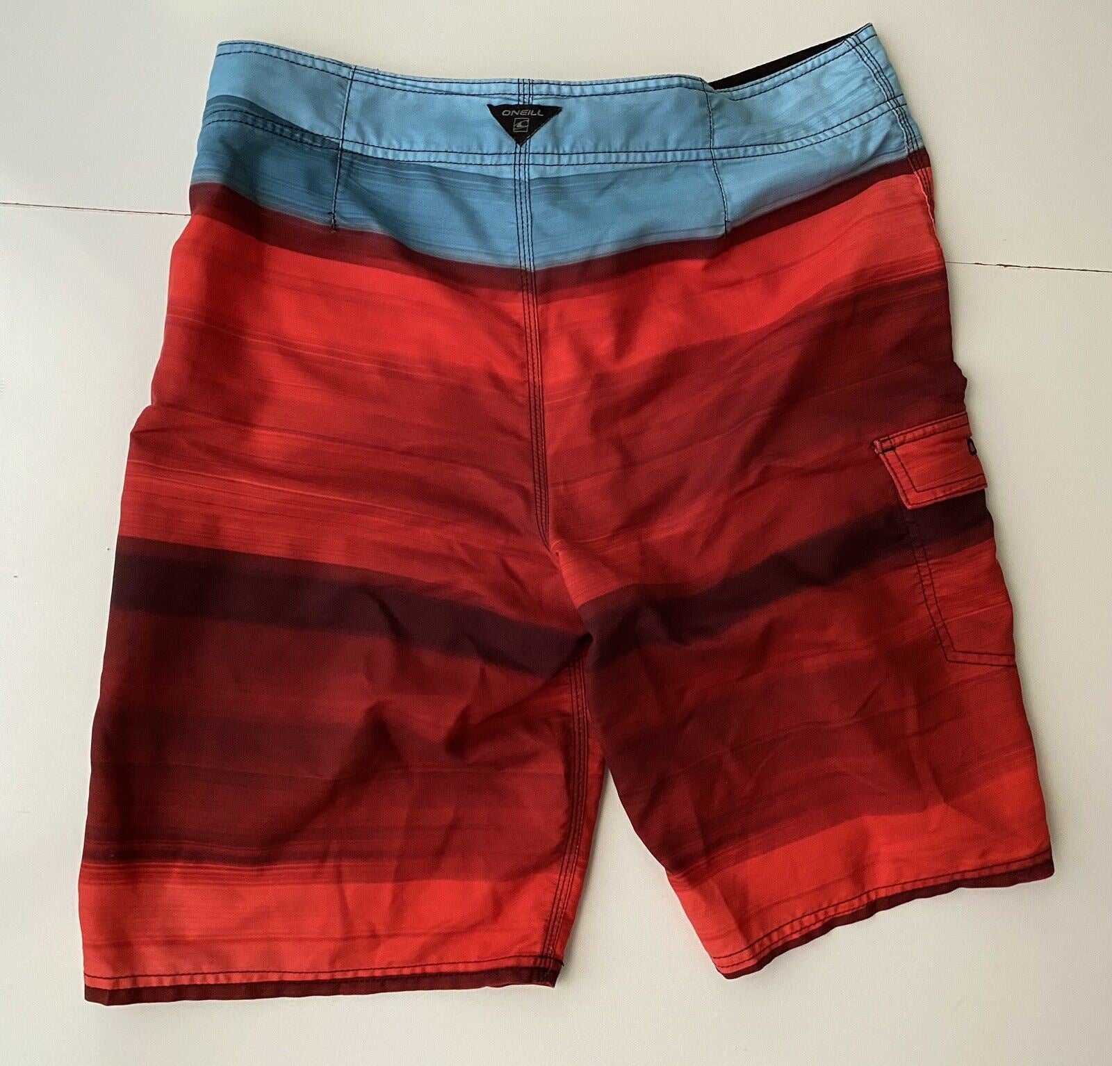 O'Neill Men's Red/Blue Shorts Size 33 US