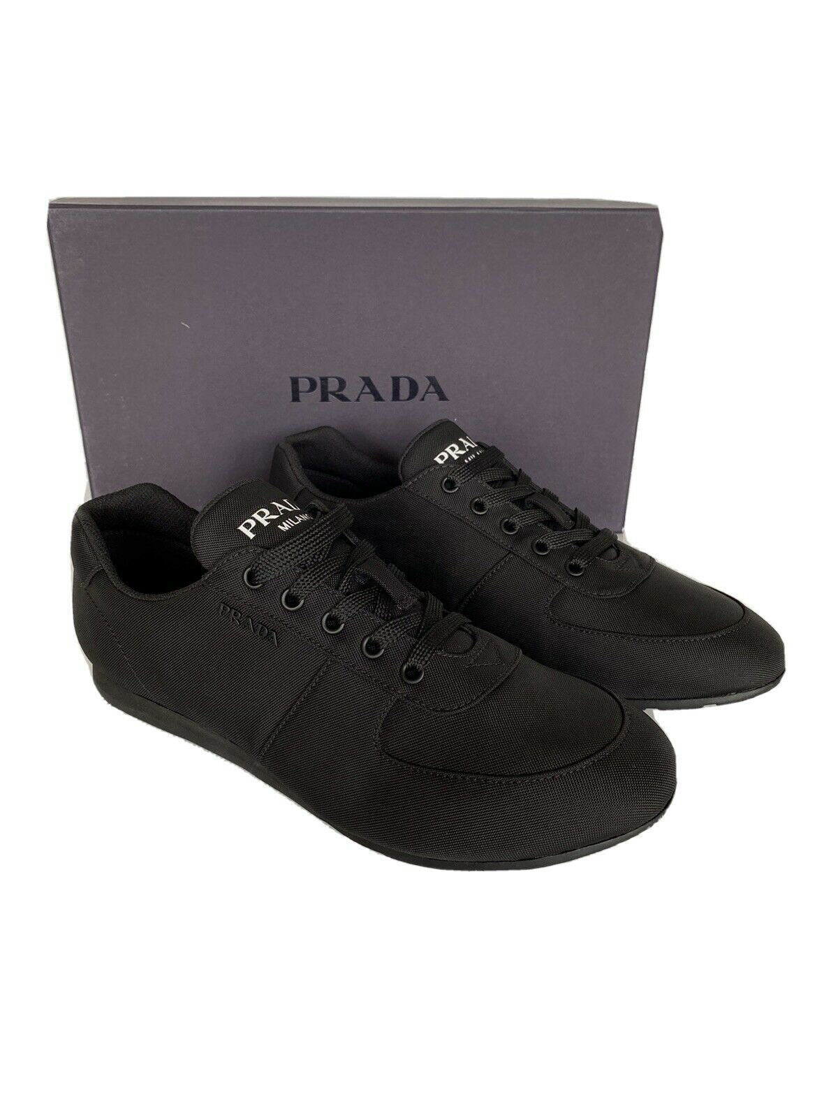 NIB PRADA Men's Nylon Tech Black  Sneakers 4E3245 Size 9 US (Prada 8)