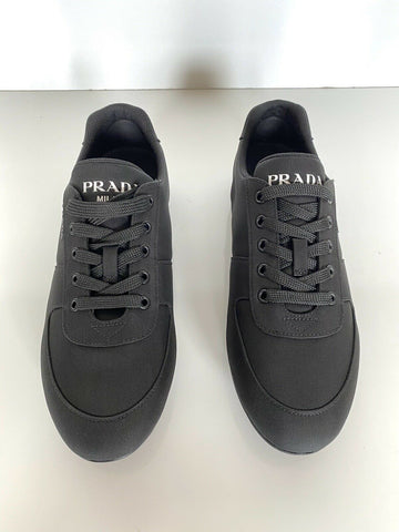 NIB PRADA Men's Nylon Tech Black  Sneakers 4E3245 Size 10.5 US (Prada 9.5)