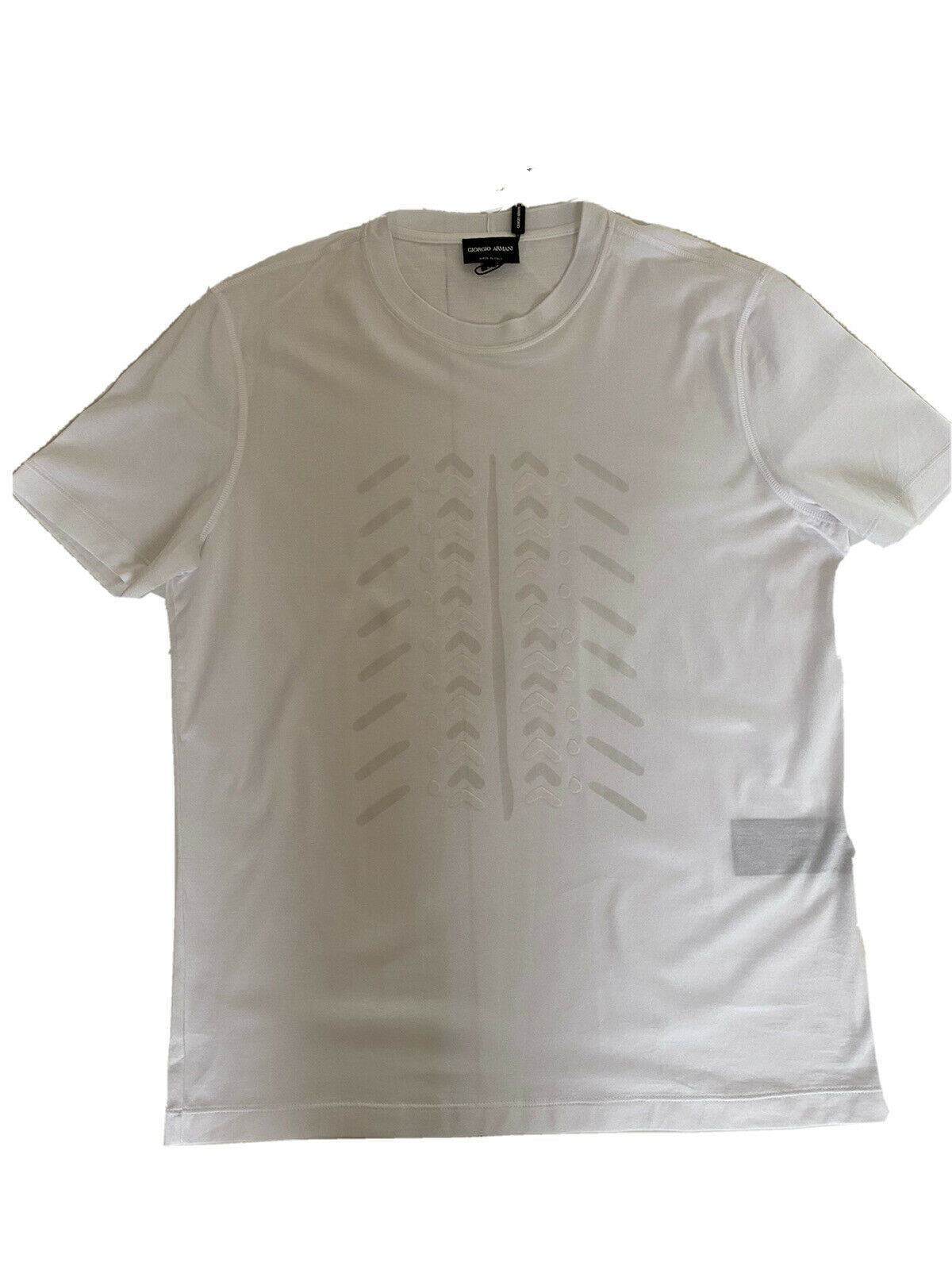 NWT $375 Giorgio Armani White Short Sleeve T-Shirt 52 Euro 3ZST55 Made in Italy