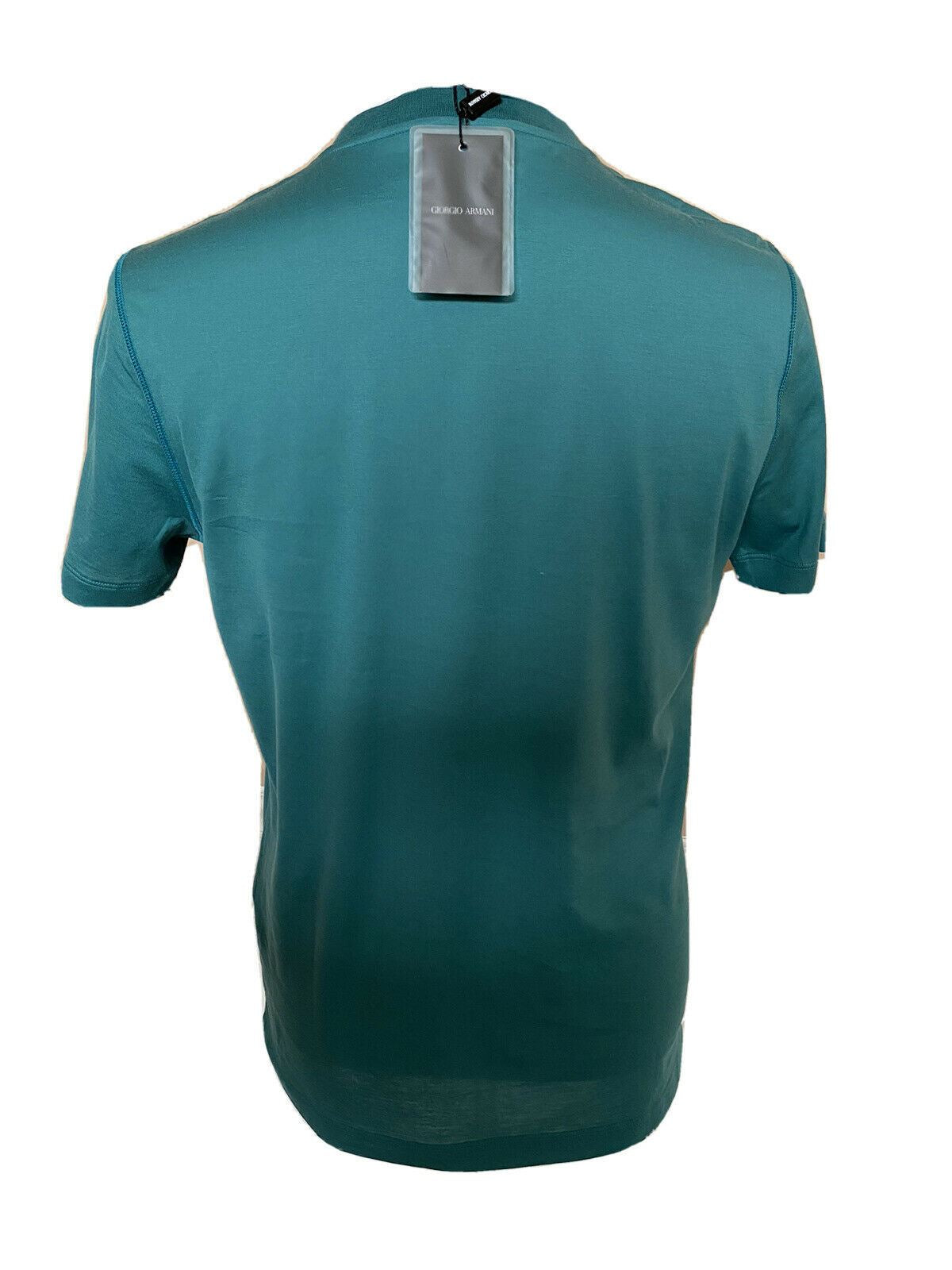 NWT $375 Giorgio Armani Green Short Sleeve T-Shirt 50 Euro 3ZST55 Made in Italy