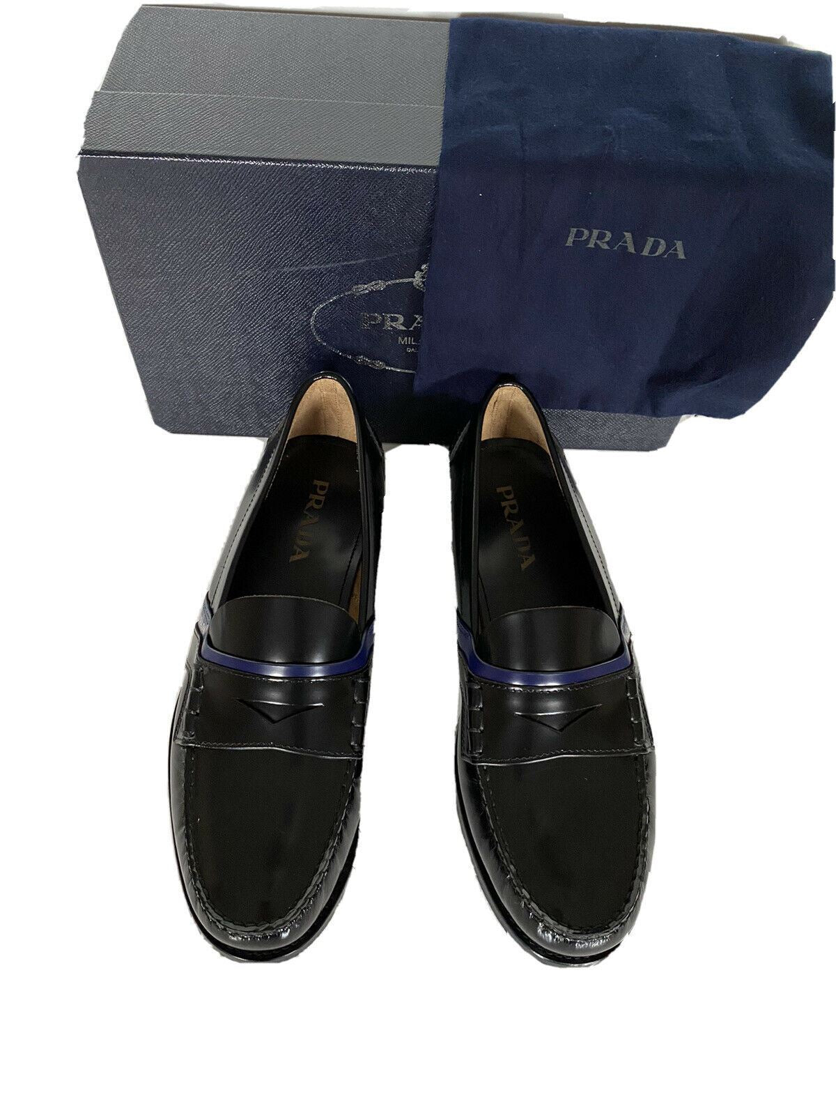NIB PRADA Milano Men's Black Spazzolato Bico Leather Dress Shoes 12 US 2DG100