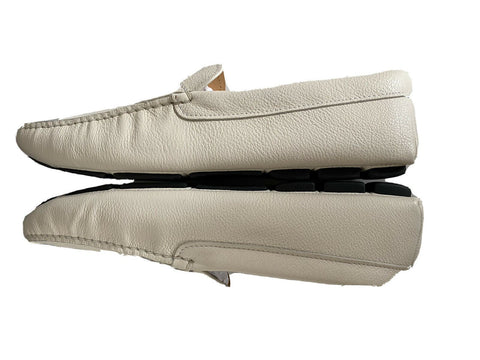 NIB PRADA Men's Leather Loafer White Driver Shoes 9.5 US (Prada 8.5) 2DD165 IT