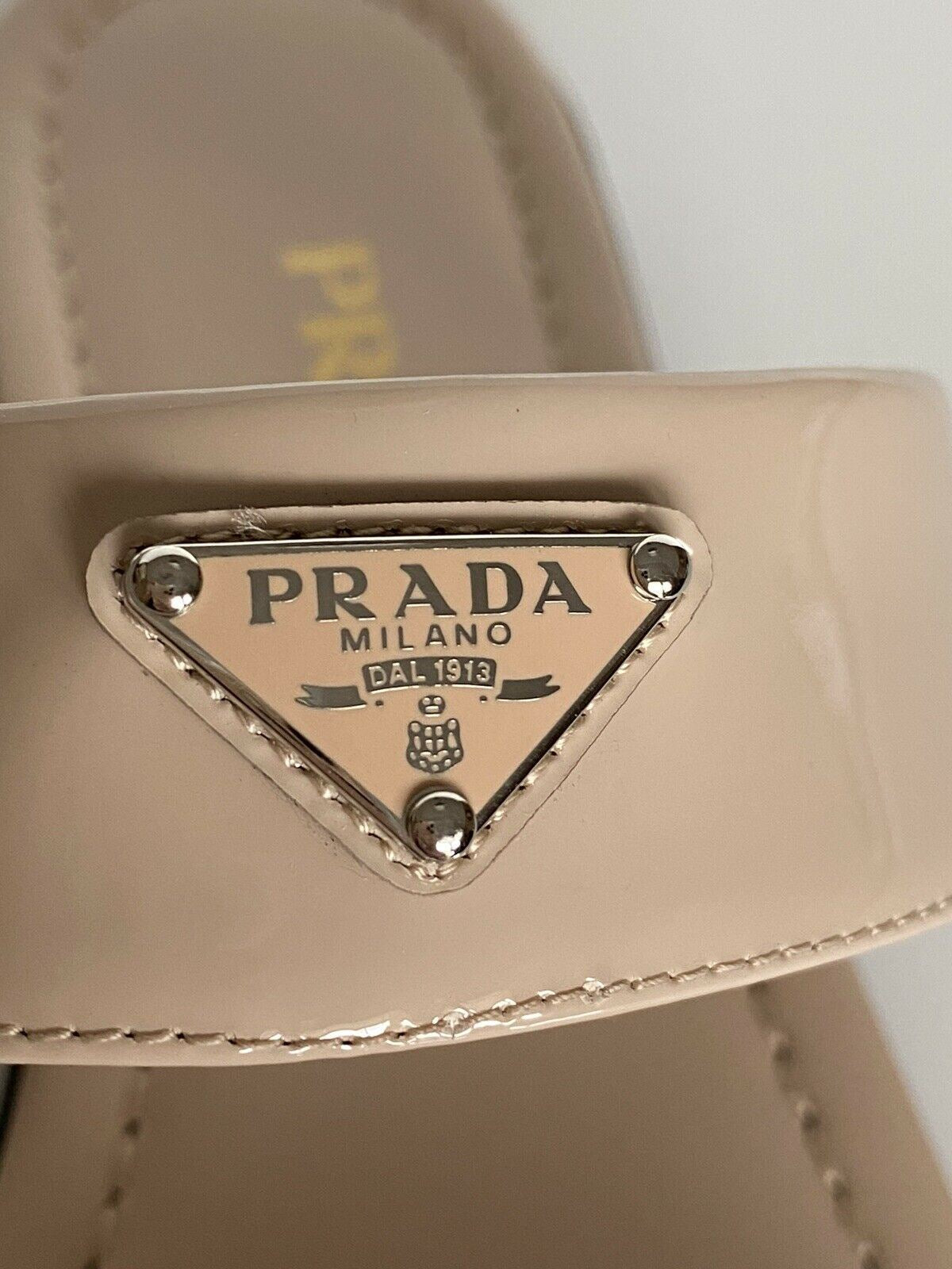 NIB PRADA Women's Beige Open Toe Leather Sandals 9 US (39 Euro) 1X057M
