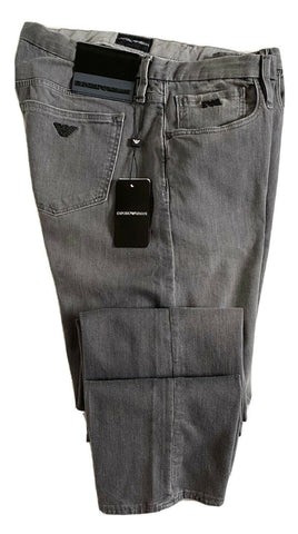NWT $325 Emporio Armani Mens Slim Fit Gray Jeans Size 36 US 3G1J00