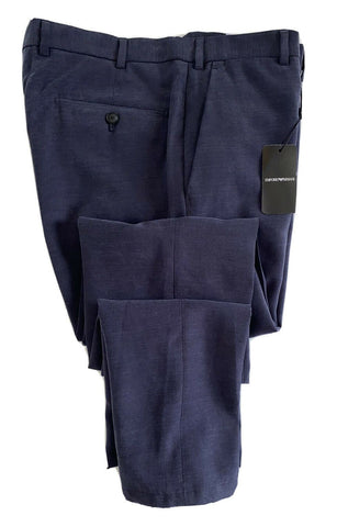 New $375 Emporio Armani Men's Blue Dress Pants 34 US (50 Eu) 21P710