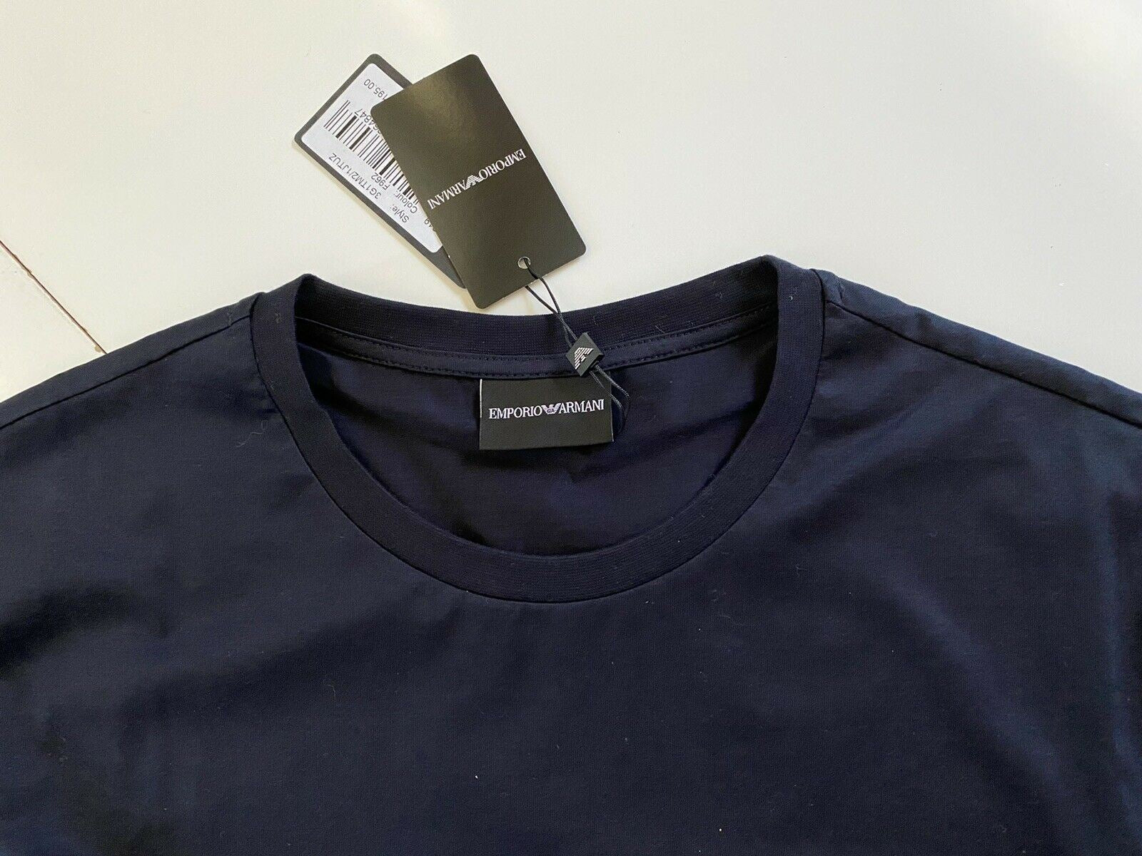 NWT $195 Emporio Armani Men's Short Sleeve Manzoni 31 Blue T-Shirt 2XL 3G1TM2