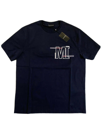 NWT $195 Emporio Armani Men's Short Sleeve Manzoni 31 Blue T-Shirt 3XL 3G1TM2