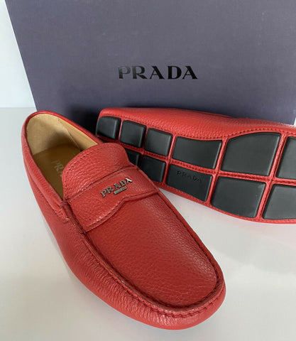 NIB PRADA Men's Leather Loafer Red Driver Shoes 9 US (Prada 8) 2DD165 IT