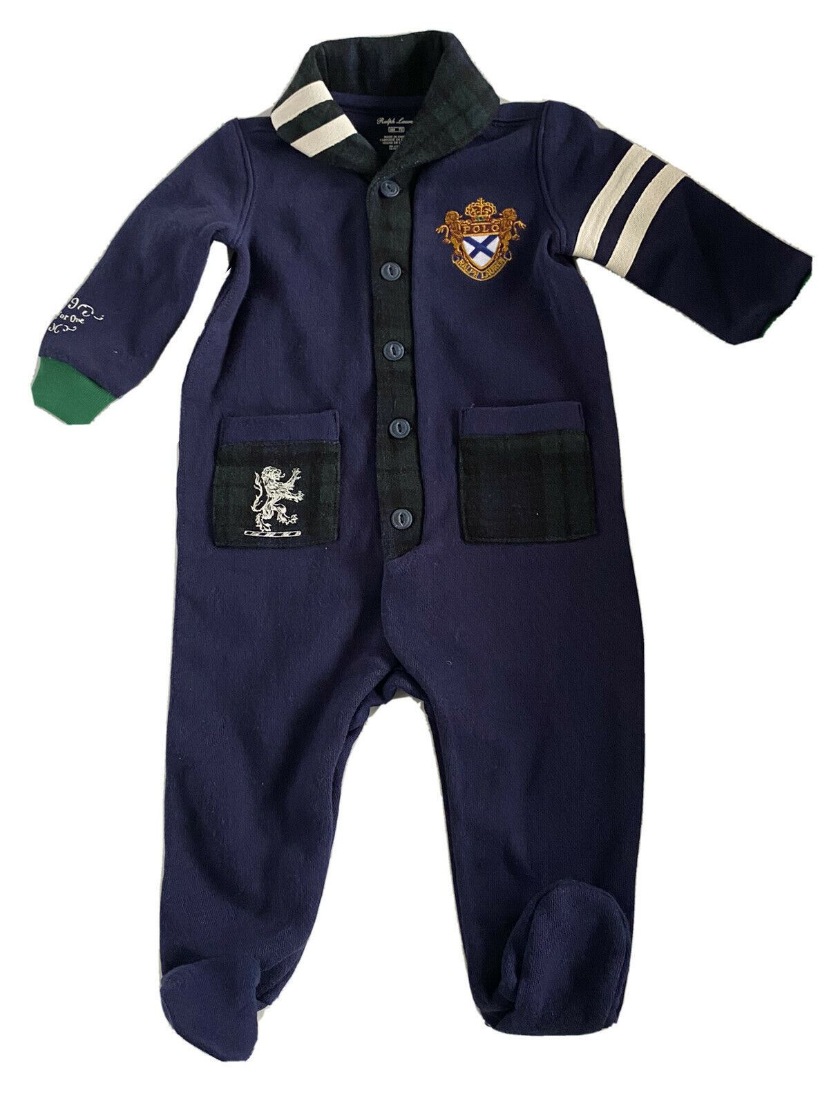 NWT $65 Polo Ralph Lauren Boy's Coverall 6 Months