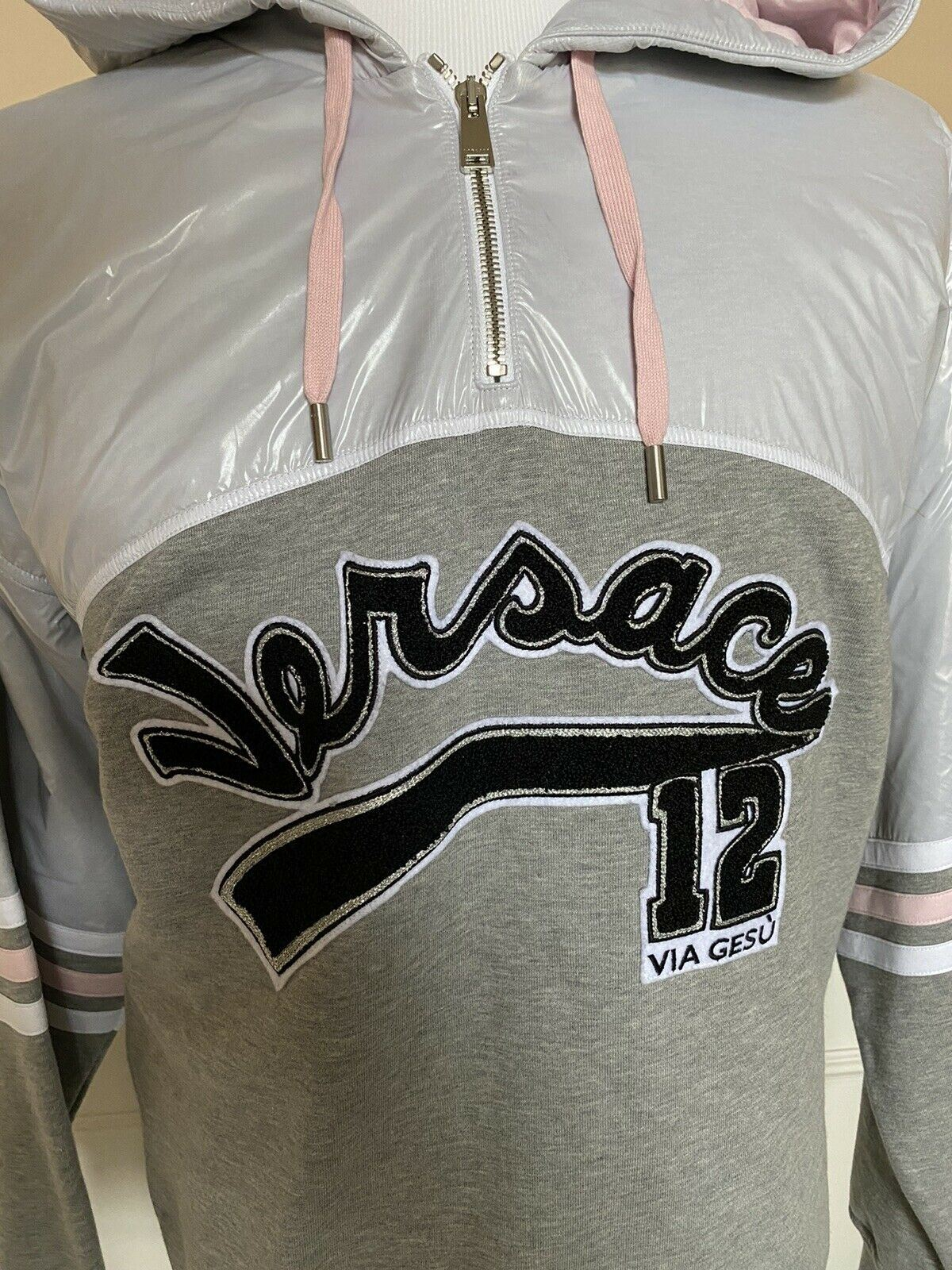 NWT $1695 Versace Limited Edition Sweatshirt with Hoodie 6XL Made in Italy
