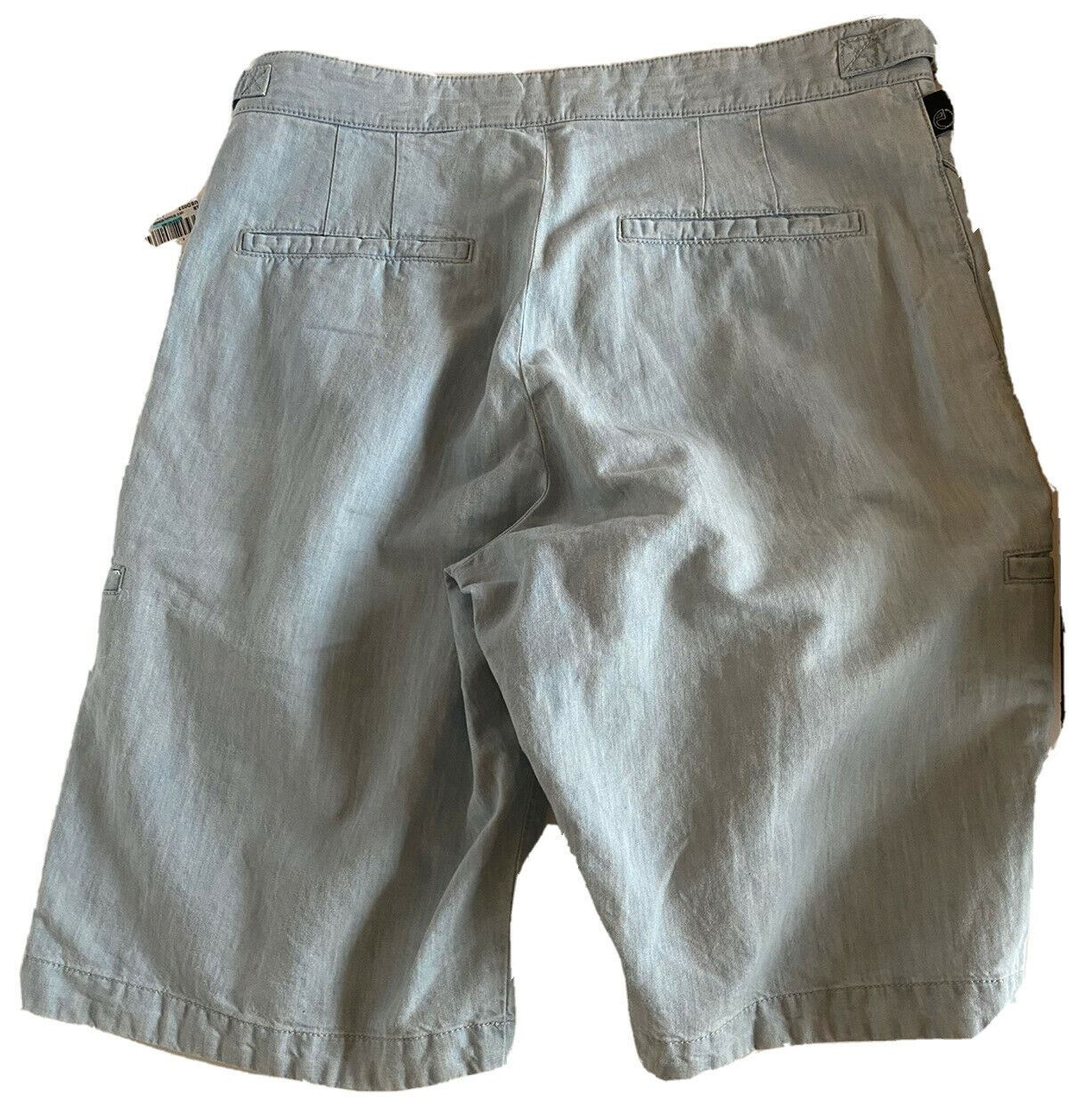 NWT $495 Armani Collezioni Men's Light Blue Shorts Size 30 US (46 Eu) TCP82S