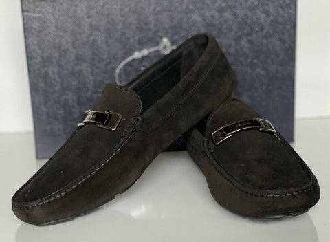 NIB PRADA Men's Suede Black Loafer Driver Shoes 11.5 US (Prada 10.5) 2DD163 IT