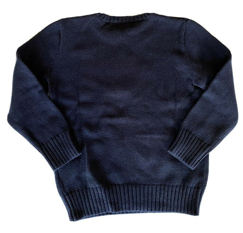 NWT $135 Polo Ralph Lauren Boys Bear Blue Cotton/Wool Sweater Size 7