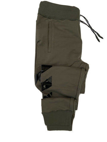 NWT $500 Philipp Plein Modern Men's Cotton Military Brown Sport Pants Size L