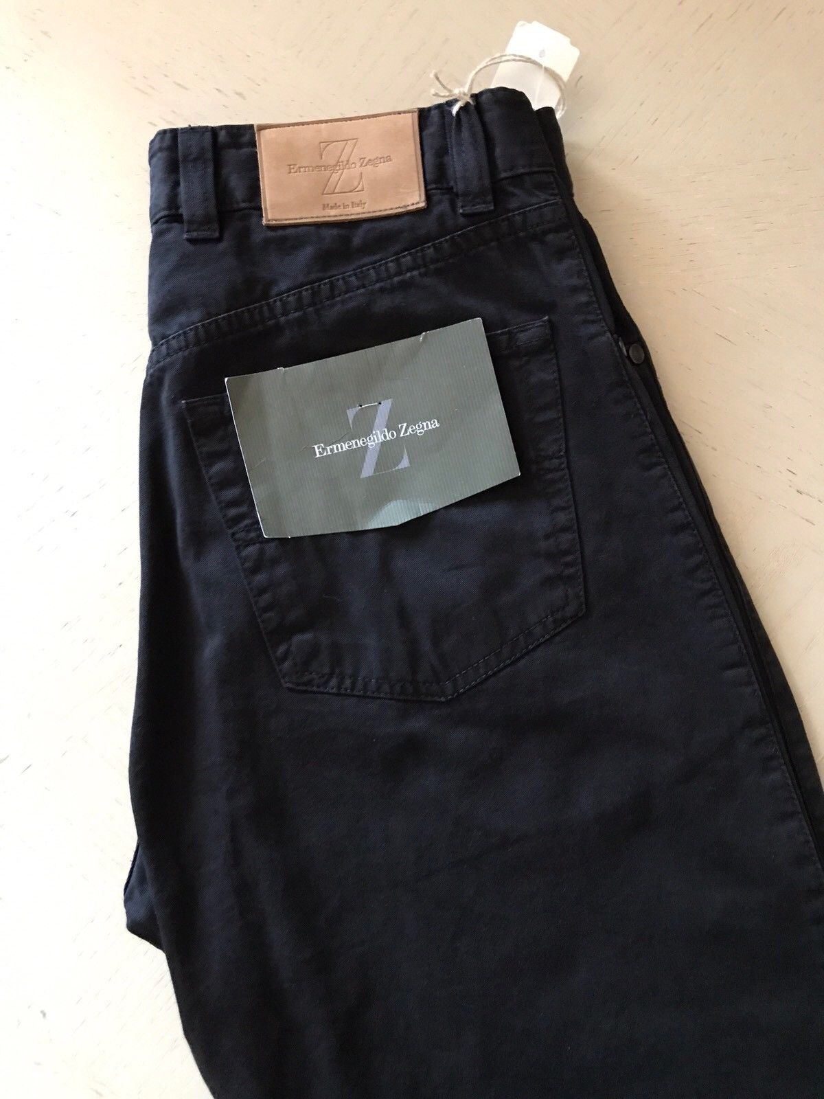 New $545 Ermenegildo Zegna Jeans Pants Black 31 US ( 47 Eu ) Italy