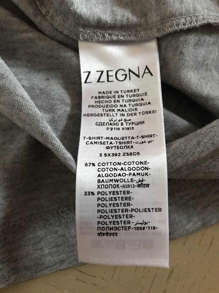 New Z Zegna Short Sleeve T Shirt Gray Size S - BAYSUPERSTORE