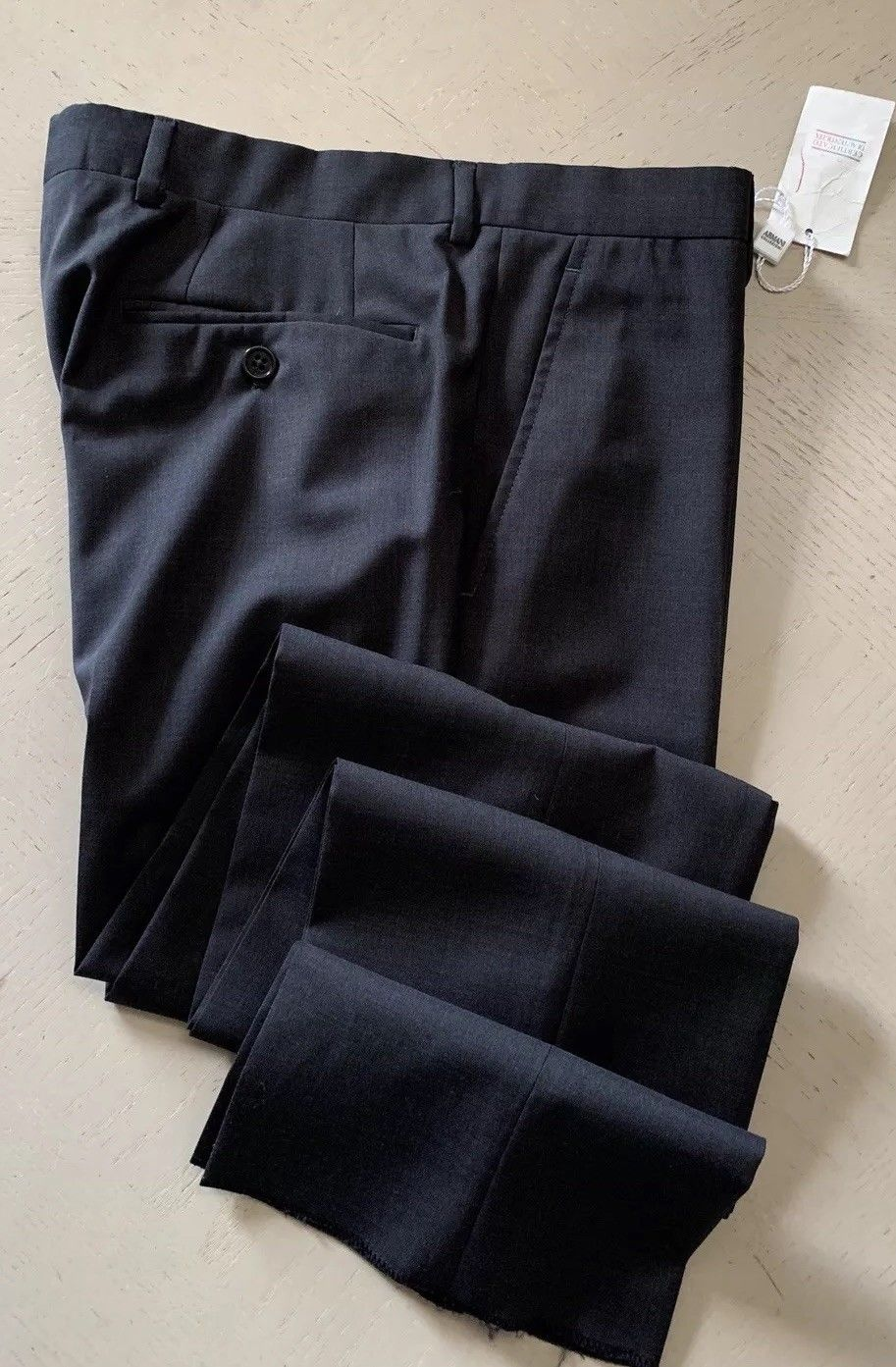 New $495 Armani Collezioni Men's Pants Dark Gray 32 US ( 48 Eu )