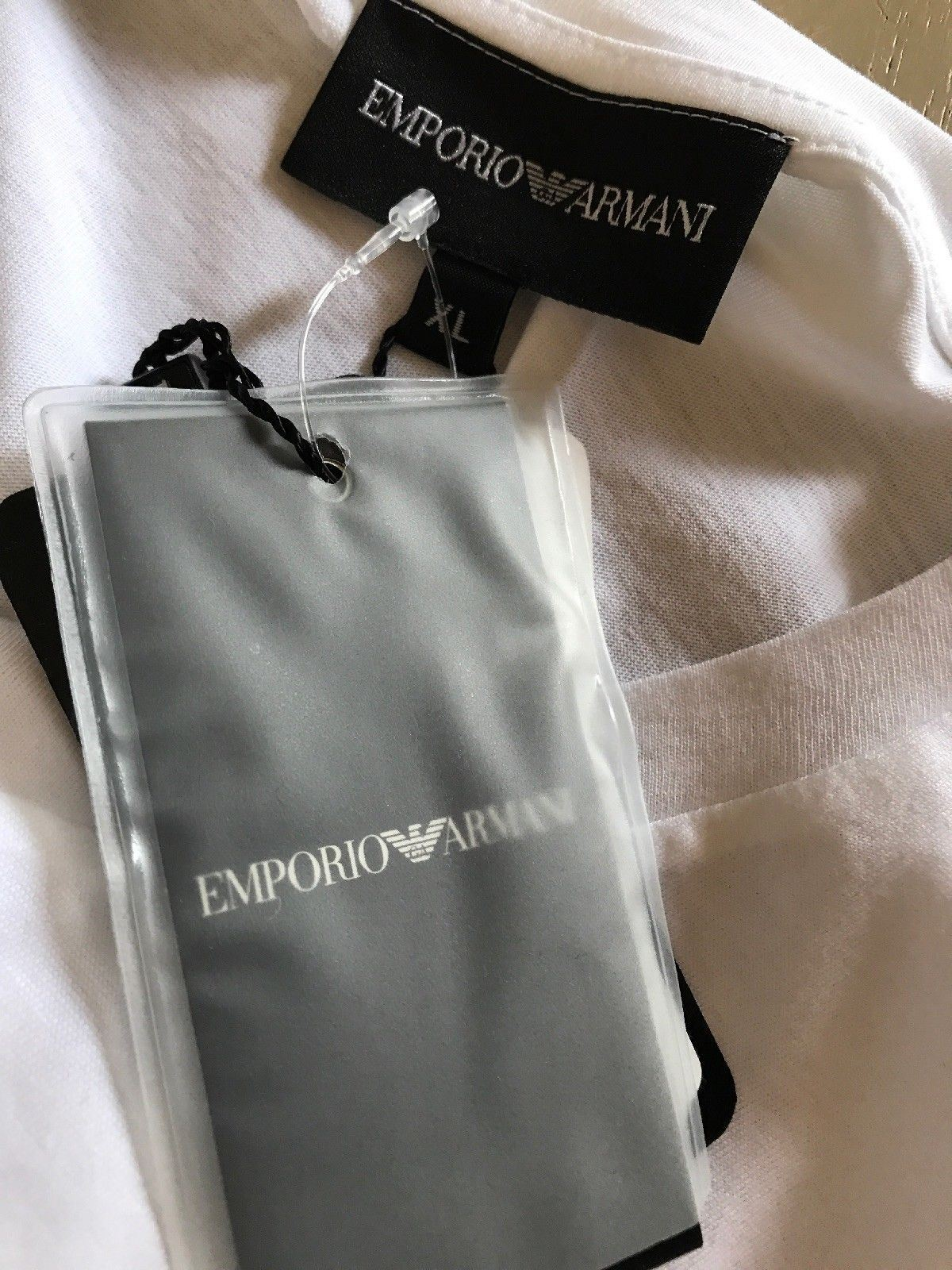 New $295 Emporio Armani Mens T Shirt White Size XXL