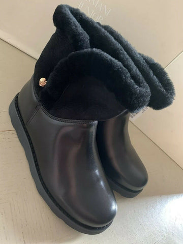 New $400 Armani Junior Girls Winter Boots Shoes Black 2.5 US ( 34 Eu )