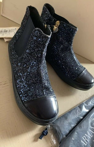 New Armani Junior Girls Sneakers Boots Shoes Blue  5.5 US ( 38 Eu )
