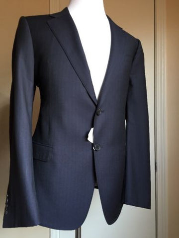 New $2995 Armani Collezioni Trend Men's Suit Blue 44 US ( 54R Eu) Italy - BAYSUPERSTORE