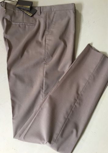 NWT $1050 Roberto Cavalli  Mens Dress Pants Brown Size 54 Euro ( 38 US ) Italy - BAYSUPERSTORE