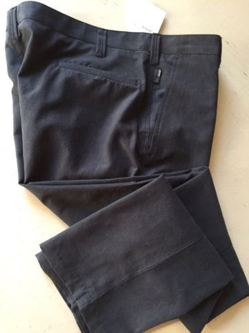 New $345 Armani Collezioni Men's  Pants Darck Gray 36 US ( 52 Euro ) - BAYSUPERSTORE