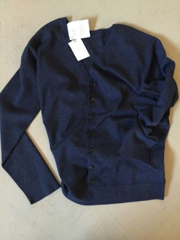 NWT $2570 Brunello Cucinelli Women's Jacket Blouse Blue Size M Italy - BAYSUPERSTORE