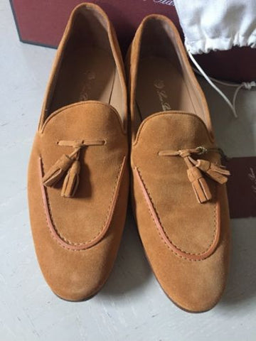 New $1075 Loro Piana Womens Brown Suede Shoes 9.5 US ( 39.5 Eur ) Italy - BAYSUPERSTORE
