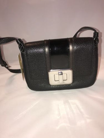 NWT Michael Kors New Lila Black Leather small messenger Shoulder flap - BAYSUPERSTORE