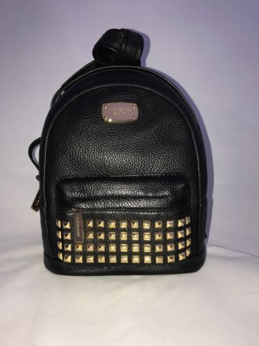 MICHAEL KORS XS Gold Studded Backpack Black Leather NWT Retail $328 35H6GTTB5L - BAYSUPERSTORE