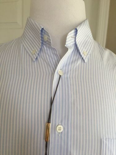 New $545 Gucci Mens Dress Shirt Classic Fit Blue 2015 Size 41/16 Italy - BAYSUPERSTORE