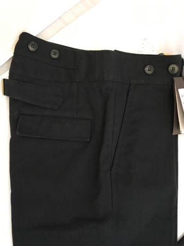 NWT $860 Gucci Cotton Canvas Blue Black Mens Pants 46 Euro (30 US) Italy 2015 - BAYSUPERSTORE