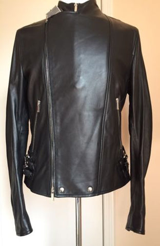 New $1995 Emporio Armani Men's Leather Jacket Full Zipper L US ( 54 It ) Italy - BAYSUPERSTORE