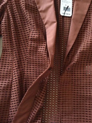 New $2990 Akris Women's Jacket Sport Coat Brown Size 6 US - BAYSUPERSTORE