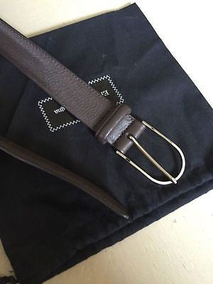 NWT $325 Ermenegildo Zegna Genuine Leather Belt Size 42/110 Made in Italy - BAYSUPERSTORE