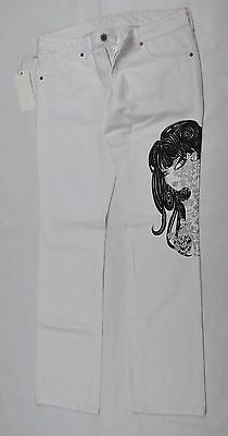 NWT Retail Price $320 EXTE Women's White Jeans 15 US (45 Euro) Made in Italy - BAYSUPERSTORE