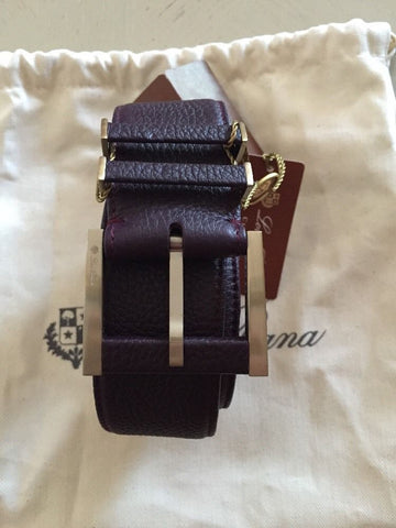 Loro Piana Purple 100% Dyed Calf Leather Women's Belt Size 85/34 NWT $795 Italy - BAYSUPERSTORE