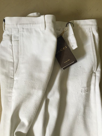 New $935 Gucci Mens Jeans Pants White 32 US ( 48 Eur) 2015 Italy - BAYSUPERSTORE