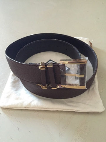 Loro Piana Brown 100% Dyed Calf Leather Women's Belt Size 85/34 NWT $795 Italy - BAYSUPERSTORE