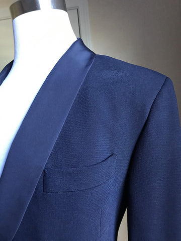 New $2695 Z Zegna Tuxedo Sport Coat Blazer Nevy/Blue 44 US (54 Eur) Switzerland - BAYSUPERSTORE