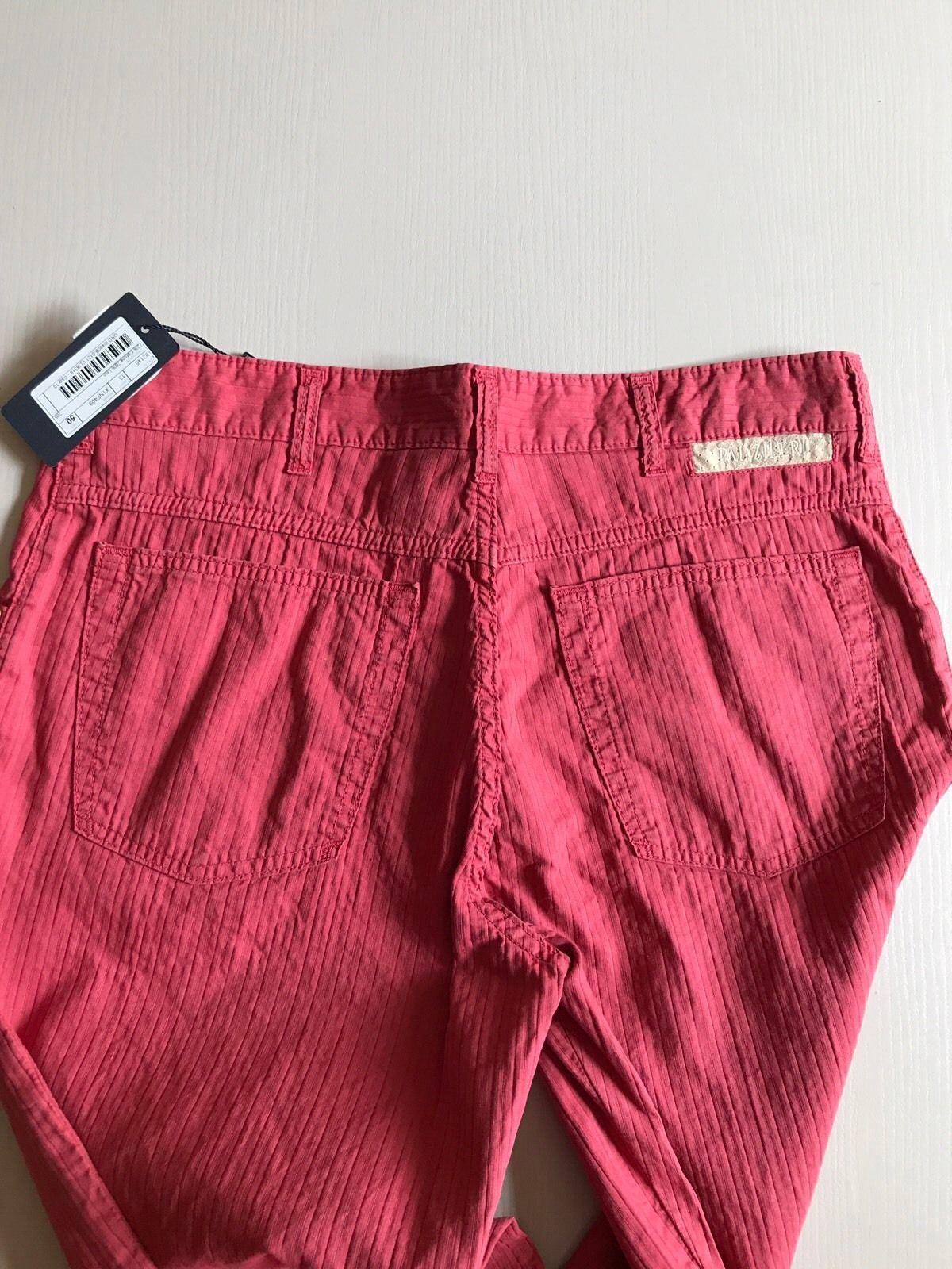 NWT $545 Pal Zileri Mens Pants Jeans Red 30 US ( 46 Eur ) Italy - BAYSUPERSTORE