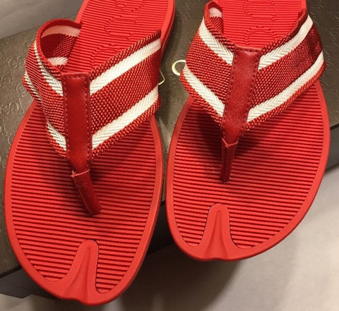 New Gucci Men's Sandals/ Flip-Flops  Red 9G ( 9.5 US ) Italy - BAYSUPERSTORE