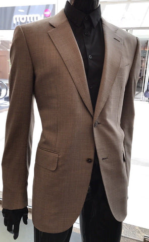 New $5995 Ermenegildo Zegna Couture Suit Brown 44R US ( 54R Eur) - BAYSUPERSTORE
